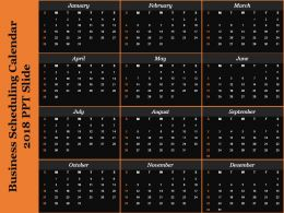 Business Scheduling Calendar 2018 Ppt Slide