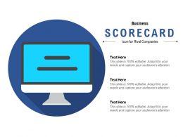 Business Scorecard Icon For Rival Companies
