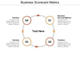 Business Scorecard Metrics Ppt Powerpoint Presentation Model Graphic Tips Cpb