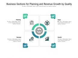 Business Sections For Planning And Revenue Growth By Quality