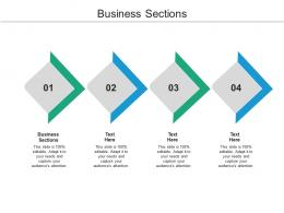 Business Sections Ppt Powerpoint Presentation Slides Cpb