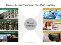 Business Sectors Presentation Powerpoint Templates