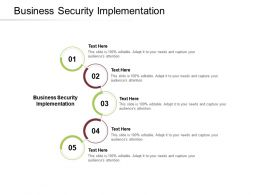 Business Security Implementation Ppt Powerpoint Presentation Pictures Background Cpb
