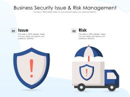 Business Security Issue And Risk Management