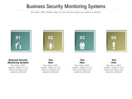 Business Security Monitoring Systems Ppt Powerpoint Presentation Model Clipart Cpb