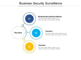 Business Security Surveillance Ppt Powerpoint Presentation Gallery Brochure Cpb