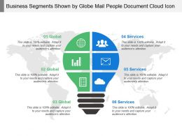 Business Segments Shown By Globe Mail People Document Cloud Icon