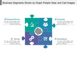 Business Segments Shown By Graph People Gear And Cart Images