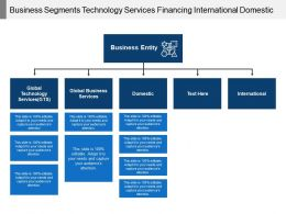 Business Segments Technology Services Financing International Domestic