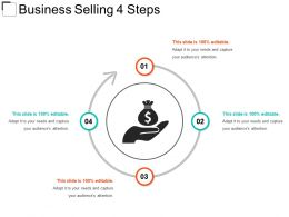 Business Selling 4 Steps Example Of Ppt Presentation
