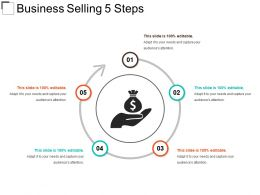 Business Selling 5 Steps Sample Of Ppt Presentation