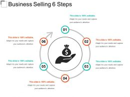 Business Selling 6 Steps Example Ppt Presentation