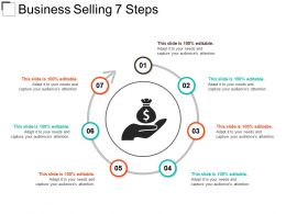 Business Selling 7 Steps Sample Ppt Presentation