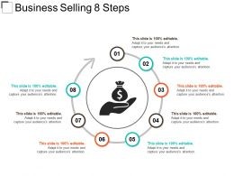 Business Selling 8 Steps Powerpoint Presentation