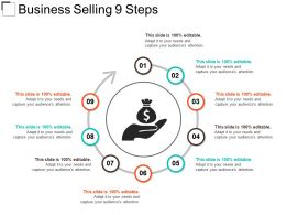 Business Selling 9 Steps Powerpoint Slide
