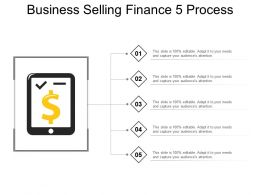 Business Selling Finance 5 Process PowerPoint Slide Introduction