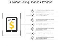 Business Selling Finance 7 Process Powerpoint Slide Show