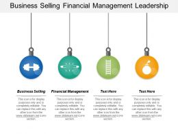 Business Selling Financial Management Leadership Assessment Marketing Strategy Cpb