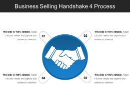 Business Selling Handshake 4 Process PowerPoint Topics