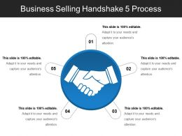 Business Selling Handshake 5 Process Ppt Background Images