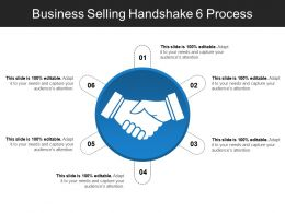 Business Selling Handshake 6 Process PPT Example Professional
