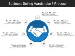 Business Selling Handshake 7 Process PPT Examples Professional