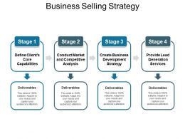 Business Selling Strategy Ppt Infographic Template