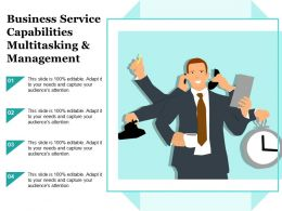 Business Service Capabilities Multitasking And Management
