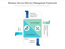 Business Service Delivery Management Framework