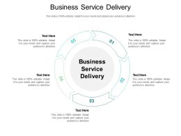 Business Service Delivery Ppt Powerpoint Presentation Portfolio Mockup Cpb