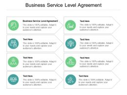 Business Service Level Agreement Ppt Powerpoint Presentation Pictures Visuals Cpb