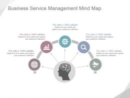 Business Service Management Mind Map Powerpoint Slide Clipart