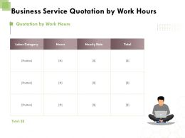 Business Service Quotation By Work Hours Ppt Powerpoint Presentation Outline Portrait