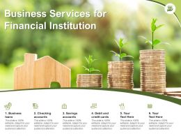 Business Services For Financial Institution