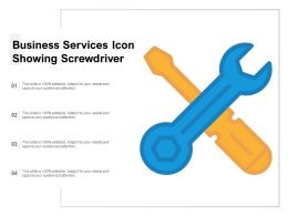Business Services Icon Showing Screw