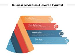 Business Services In 4 Layered Pyramid