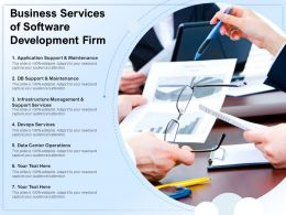 Business Services Of Software Development Firm