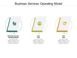 Business Services Operating Model Ppt Powerpoint Presentation Model Graphics Design Cpb