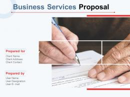 Business Services Proposal Powerpoint Presentation Slides