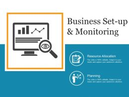 Business Set Up And Monitoring Powerpoint Slide Clipart