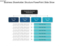 Business Shareholder Structure Powerpoint Slide Show