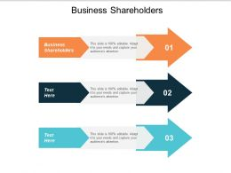 Business Shareholders Ppt Powerpoint Presentation Infographics Example File Cpb