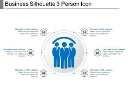 Business Silhouette 3 Person Icon PowerPoint Show