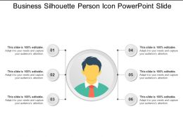 Business Silhouette Person Icon Powerpoint Slide