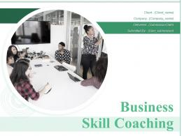 Business Skill Coaching Powerpoint Presentation Slides