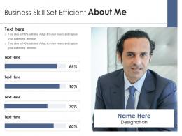 Business Skill Set Efficient About Me Infographic Template