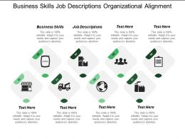 Business Skills Job Descriptions Organizational Alignment Industry Management