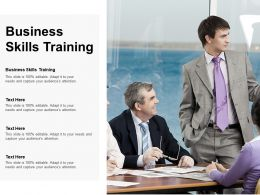 Business Skills Training Ppt Powerpoint Presentation Inspiration Slideshow Cpb