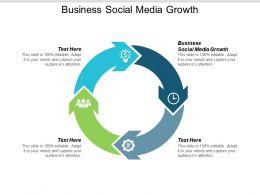 Business Social Media Growth Ppt Powerpoint Presentation Ideas Model Cpb