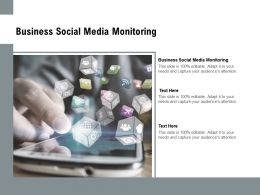 Business Social Media Monitoring Ppt Powerpoint Presentation Outline Format Cpb